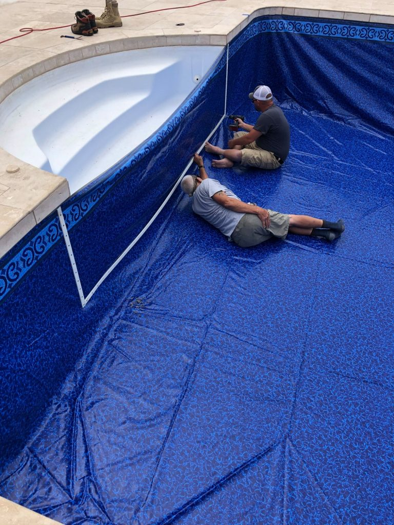 New Pool Liner Installation